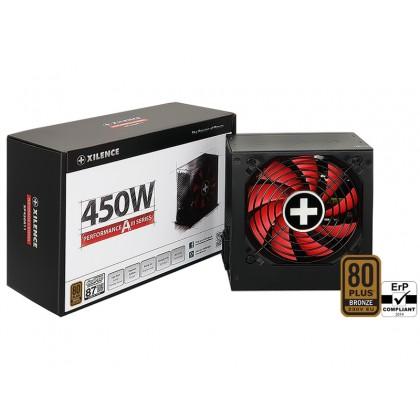 "PSU XILENCE XP450R11, 450W, ""Performance A+ III"" Series, ATX 2.52, 80 PLUS® BRONZE Active PFC, 120mm fan"