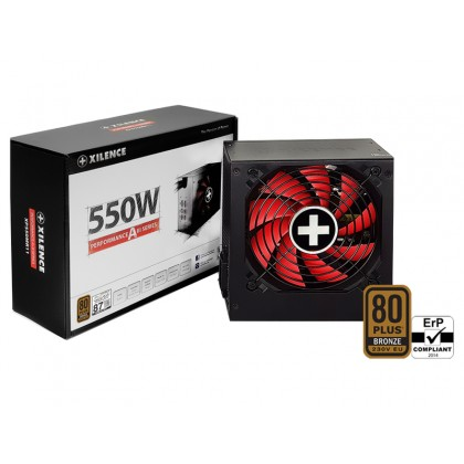 "PSU XILENCE XP550R11, 500W, ""Performance A+ III"" Series, ATX 2.52, 80 PLUS® BRONZE Active PFC, 120mm fan"