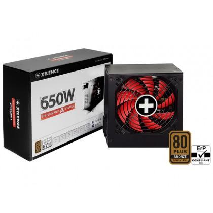 "PSU XILENCE XP650R11, 650W, ""Performance A+ III"" Series, ATX 2.52, 80 PLUS® BRONZE Active PFC, 120mm fan"