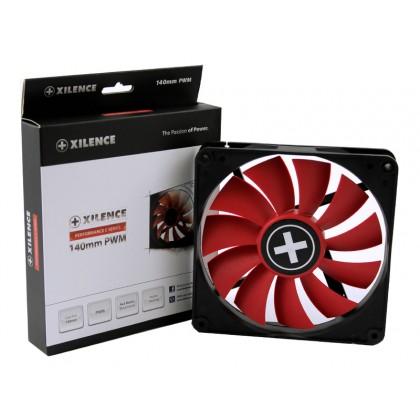 140mm Case Fan - XILENCE XPF140.R.PWM Fan, Performance C, 140x140x25mm, 700rpm, <30dBa, 62.05CFM, hydro bearing, 4Pin with PWM,  Black/Red