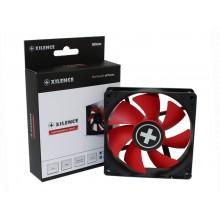 80mm Case Fan - XILENCE XPF80.R.PWM Fan, Performance C, 80x80x25mm, 800-1800 rpm, < 20dBa, 21.8CFM, hydro bearing, 4Pin with PWM, Black/Red