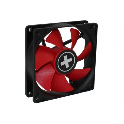 80mm Case Fan - XILENCE XPF80.R Fan, 80x80x25mm, 1500rpm, <15dBa, 19.6CFM, hydro bearing, Big 4Pin and 3Pin Molex, Black/Red