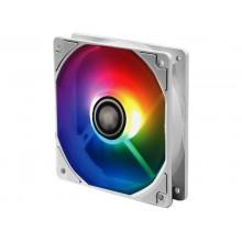 """120mm Case Fan - XILENCE Performance A+ Series """"XPF120.W.ARGB"""" White ARGB  LED Fan: 120x120x25mm, 500~1500rpm, <18~32.5dBa, 70CFM, PWM, hydro bearing, 4 pin + ARGB 3 Pin M/B, Black"""
