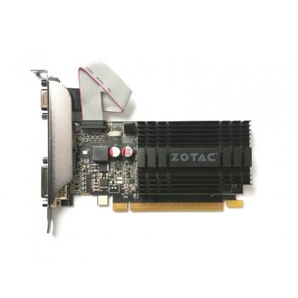 ZOTAC GeForce GT710 Zone Edition 2GB GDDR3, 64bit, 954/1600Mhz, Passive Heatsink, HDCP, VGA, DVI-D, HDMI, VGA, Low Profile, 2x LP bracket included, Lite Pack