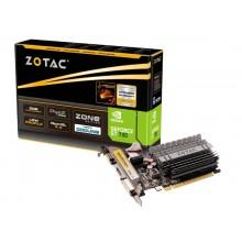ZOTAC GeForce GT730 Zone Edition 2GB GDDR3, 64bit, 902/1600Mhz, HDCP, VGA, DVI-D, HDMI, Low Profile, Passive Heatsink, 2x Low profile bracket included, Light Pack