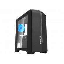 Case mATX GAMEMAX Centauri, w/o PSU, 1x120mm, Blue LED, USB3.0, Side Window, Black/Grey